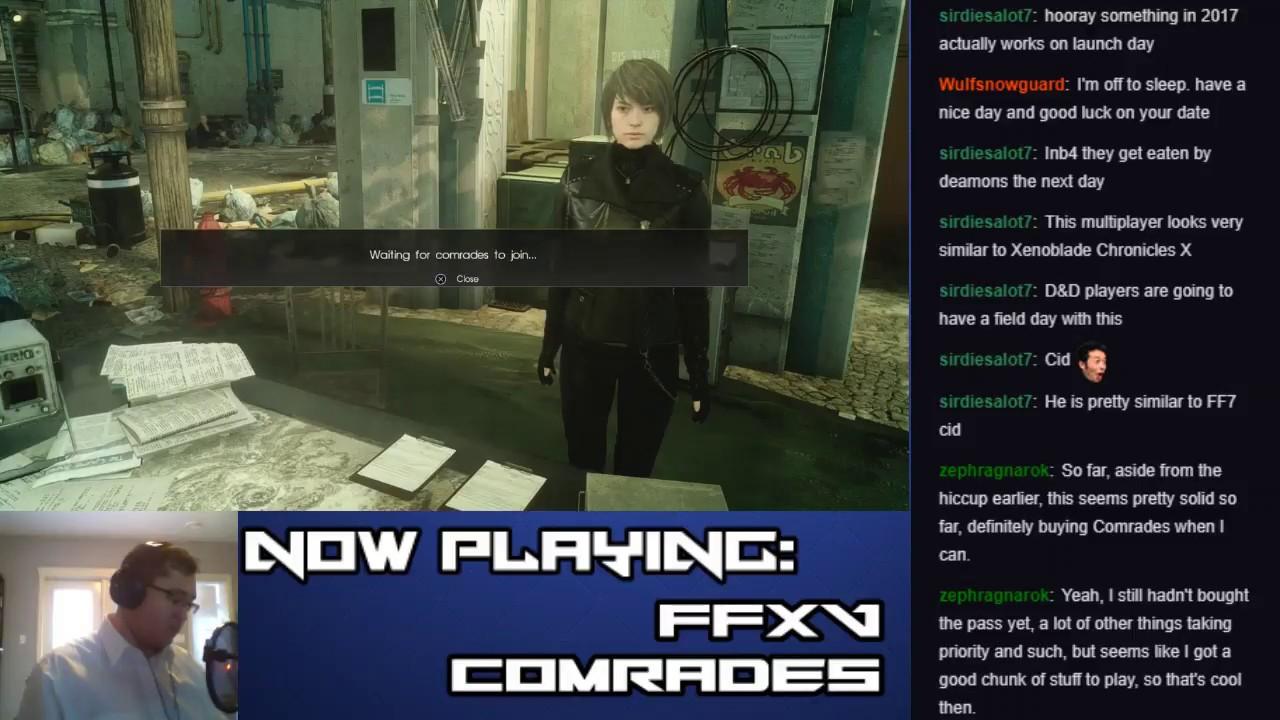 Let's Stream Final Fantasy XV: Comrades (Part 8 – Defense: Hunter's Hideaway)